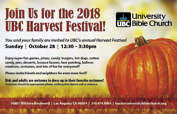 UBC Harvest Festival 2018
